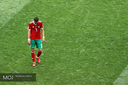 دیدار تیم های پرتغال و مراکش