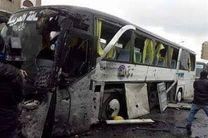 انفجار 5 بمب در اتوبوس حامل مسافران در جاده دمشق