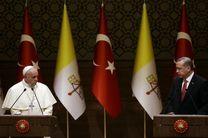 اردوغان و پاپ درباره قدس گفت و گو کرد