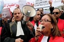 قضات تونس بار دیگر اعتصاب کردند