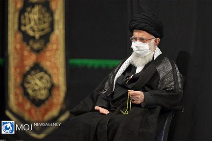 عزاداری شب هشتم ماه محرم با حضور رهبر معظم انقلاب اسلامی