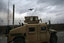ورود کاروان نظامیان آمریکایی با تجهیزات نظامی از کویت به عراق