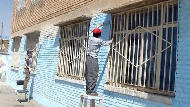 اردوهای جهادی درطرح هجرت 3 مراکز اموزشی مناطق محروم استان را بازسازی می کنند.