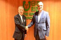 سفیر ایران در توکیو با موسس بنیاد صلح ساساکاوا دیدار کرد