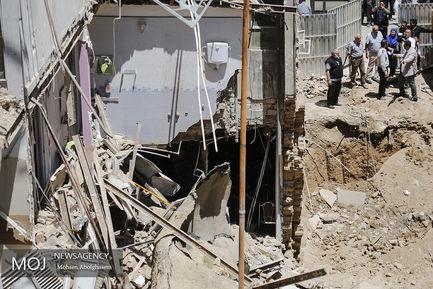 ریزش ساختمان قدیمی در گیشا