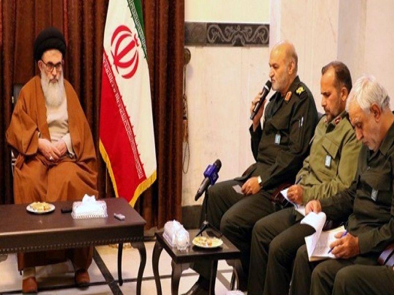 جمعی از فرماندهان سپاه فجر استان فارس با تولیت آستان مقدس احمدی و محمدی دیدار کردند