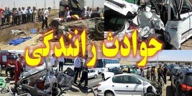 2 کشته و یک مصدوم در تصادف یک دستگاه سواری  پژو با کامیون در سمیرم