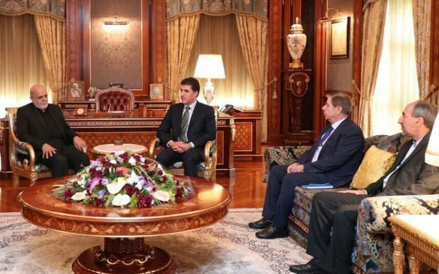 ایرج مسجدی با نیچروان بارزانی دیدار و گفتگو کرد