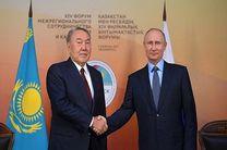دیدار پوتین و نظربایف درباره وضعیت توافق دریای خزر