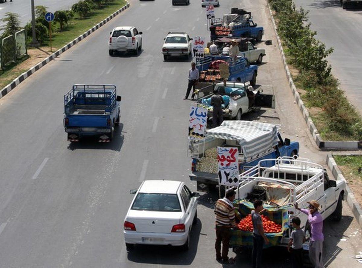 توقف در حاشیه بزرگراه ها ممنوع است