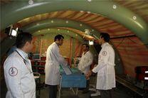 راهاندازی بیمارستان صحرایی در شهر تازهآباد ثلاث باباجانی