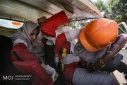 مانور «صفر لحظهای» هلال احمر در بروجرد برگزار شد
