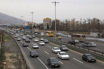ترافیک نیمه سنگین در جاده تهران-ساوه