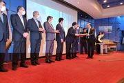 اعطای تنها تندیس زرین جایزه ملی تعالی سازمانی به فولاد مبارکه