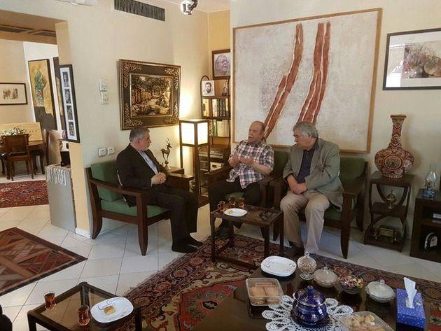 دیدار وزیر ارشاد با محمد علی کشاورز