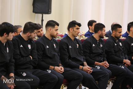 دیدار حسن روحانی با اعضای تیم ملی فوتبال ایران قبل از جام جهانی 2018 روسیه