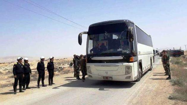 آخرین تروریست های جیش الاسلام از شمال شرق ریف دمشق خارج شدند