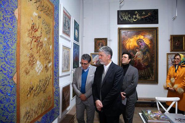وزیر ارشاد از جشنواره هنرهای تجسمی فجر بازدید کرد