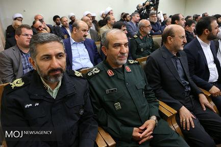 دیدار دستاندرکاران کنگره شهدای استان قزوین با مقام معظم رهبری