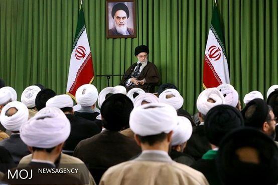 ائمه جماعات مساجد استان تهران با رهبر معظم انقلاب دیدار کردند