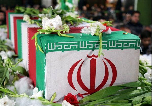 مراسم تشییع 2 شهید گمنام در دادگستری کل استان تهران