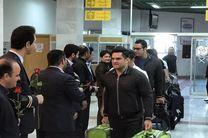 استقبال از تیم ملی وزنه برداری ایران در مرز باجگیران