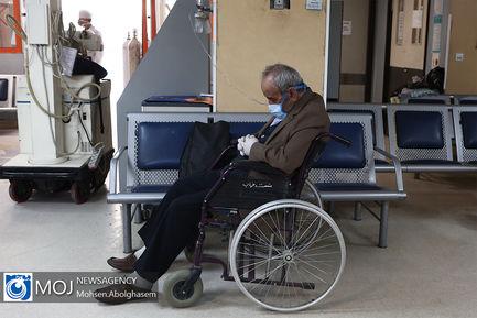 بخش اورژانس بیماران کرونایی بیمارستان مسیح دانشوری