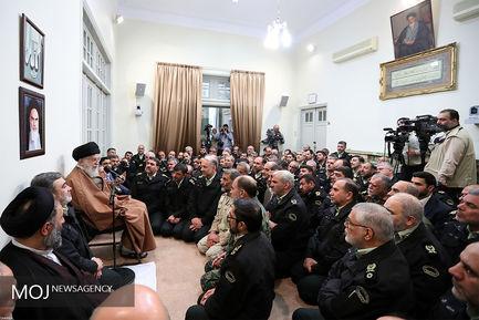 دیدار فرماندهان نیروی انتظامی با فرمانده کل قوا