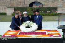 حضور رئیس جمهور در بنای یادمان گاندی