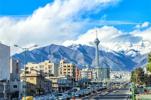 کیفیت هوای تهران در 15 فروردین  پاک است