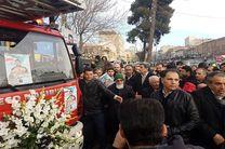 مراسم تشییع پیکر شهید احسان جامعی با حضور شهردار تهران برگزار شد