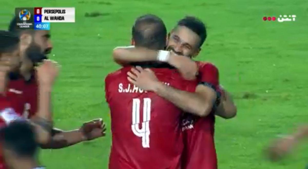 نتیجه بازی پرسپولیس و الوحده امارات در نیمه نخست