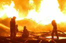 10 فوتی و مصدوم در آتشسوزی یک منزل مسکونی در همدان
