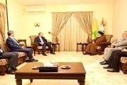 وزیر امور خارجه با سید حسن نصرالله دیدار کرد