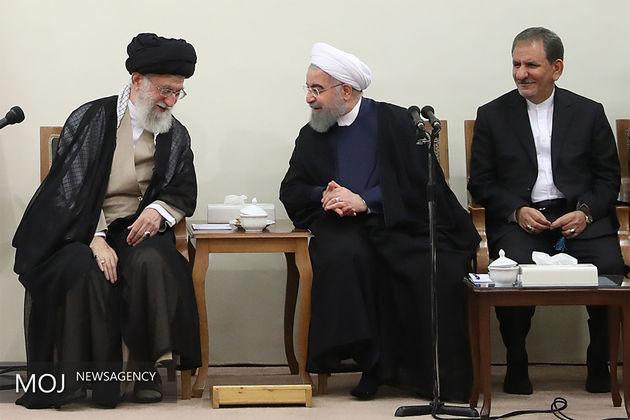 رئیسجمهور و اعضای هیأت دولت دوازدهم با مقام معظم رهبری دیدار کردند