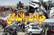 واژگونی یک دستگاه اتوبوس ولوو در جاده همدان-کرمانشاه