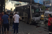 حمله به اتوبوس پلیس ترکیه، 5 مجروح برجا گذاشت