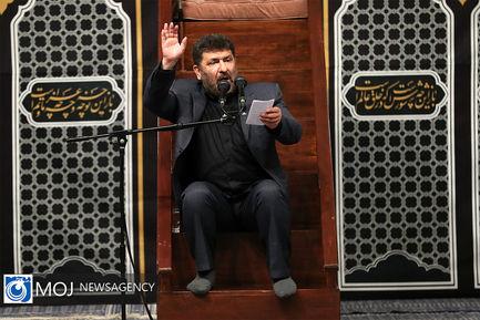 عزاداری شب هشتم ماه محرم با حضور مقام معظم رهبری