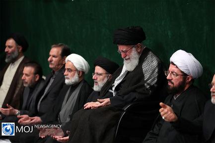 دومین شب عزاداری امام حسین (ع) با حضور مقام معظم رهبری