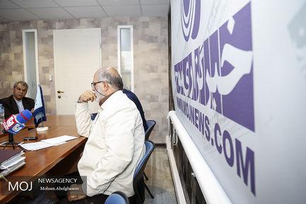 نشست خبری حسین الله کرم در خبرگزاری موج