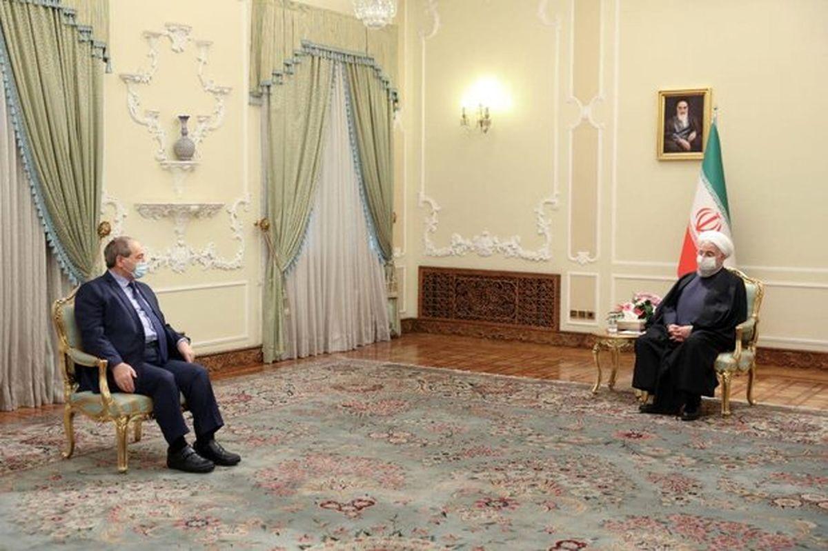 دیدار و گفتگو وزیر امور خارجه سوریه با روحانی