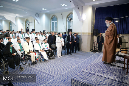دیدار مدالآوران ایران در بازیهای پارا آسیایی با مقام معظم رهبری