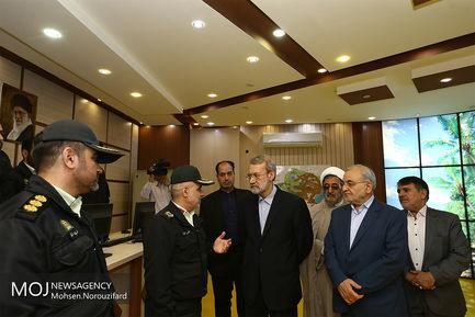 بازدید نوروزی علی لاریجانی از قرارگاه عملیاتی امام علی (ع) نیروی انتظامی قم