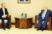 فرستاده ویژه سازمان ملل در موضوع سوریه با ولید معلم دیدار کرد