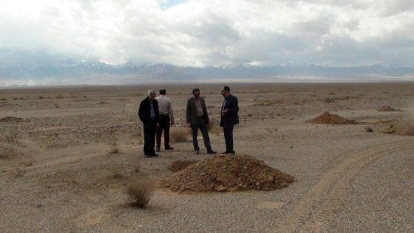 بازدید معاون فنی اداره کل منابع طبیعی یزد از روند مدیریت روان آب ها
