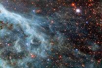 ناسا عکسی از یک کهکشان پرتوهای آبی منتشر کرد