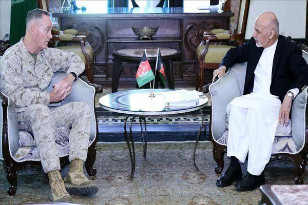 دیدار رئیس ستاد مشترک ارتش آمریکا با «اشرف غنی»