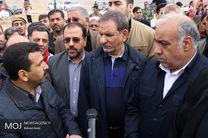 بازدید اسحاق جهانگیری از مناطق زلزله زده کرمانشاه