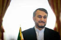 امیرعبداللهیان: مسلمانان در مقابله با تحرکات ضدبشری رژیم صهیونیستی متحد شوند