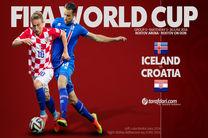 ترکیب تیم های ملی ایسلند و کرواسی مشخص شد